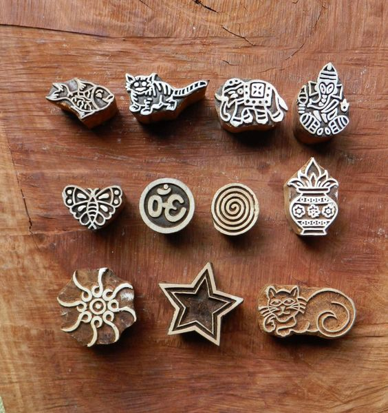 Hand Carved Henna Stamps
