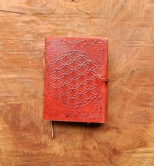 Leather Journal ~ Sacred Geometry | Flower of Life Embossed