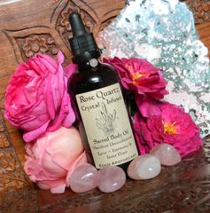 Sacred Body Alchemy OIL | Manifest Unconditional Love ~ Inner Peace ~ Harmony | Rose Quartz + Rose Otto | Sacred Skincare