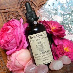 Sacred Body Alchemy OIL | Manifest Unconditional Love ~ Inner Peace ~ Harmony | Rose Quartz + Rose Otto | Sacred Skincare