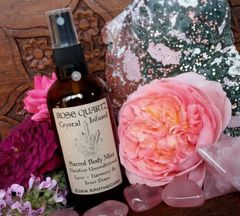 Rose Quartz + Rose | Sacred Face & Body Mist ~ Crystal Infused Alchemy Mist | Sacred Skincare