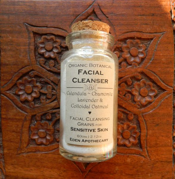 Facial Cleansing Grains ~ Sensitive Skin | Organic Homegrown Botanicals ~ Calendula ~ Chamomile ~ Lavender | Herbal Alchemy Facial Cleanser
