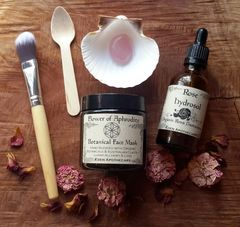 Love Thyself Facial Care Pack ~ Organic Botanical Cleanse | Exfoliate | Mask ~ Inner Goddess Beauty Ritual ~ Sacred Natural Skincare