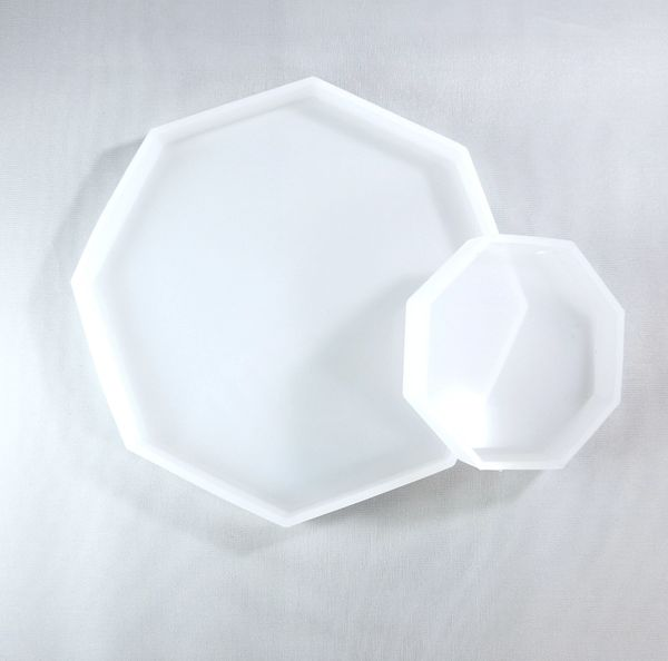 Silicone Mold - Octagon Coasters, Set of 2
