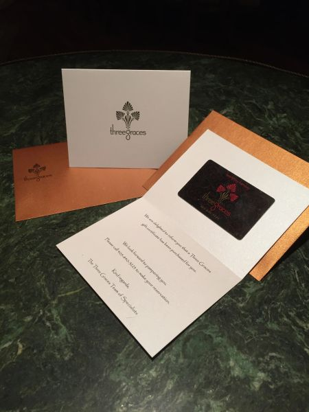 $100.00 Three Graces Gift Card