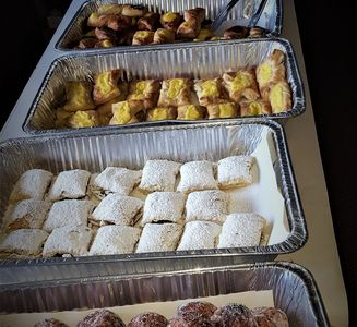 Baked Argentinian pastry, facturas,  sweet table, catering.