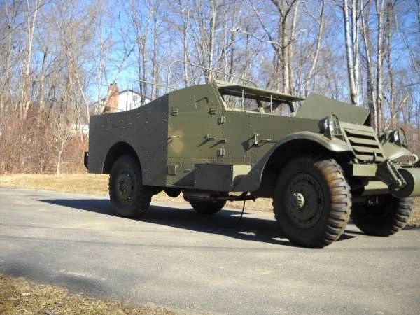 1942 WHITE M3A1 Scoutcar -- US Army WWII -- Armored 4X4 Military Vehicle -- Modified
