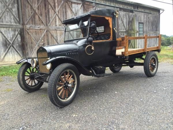 1924 Ford Model TT Stake-side Flatbed Pickup Truck -- Runs & Drives Well, Includes All Accessories