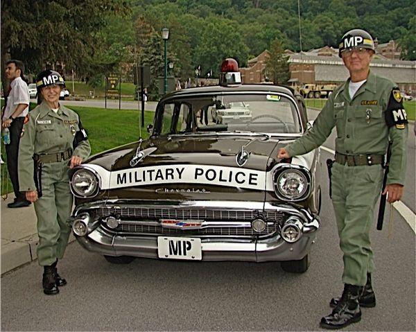 1957 Chevrolet 150 Sedan -- Military Police Car -- 100% Authentic