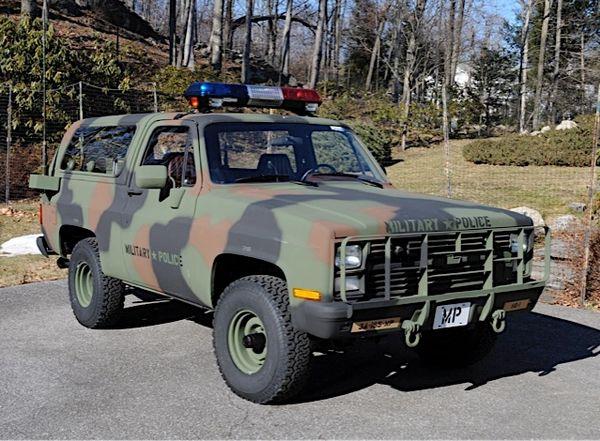 1983 Chevrolet CUCV / K5 Blazer -- Military Police -- Authentic Vehicle