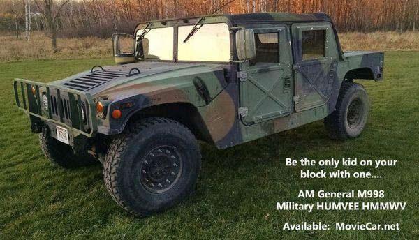 1989 AM General M998 Military Humvee 'HMMWV' -- Super Low Miles - Runs Perfectly