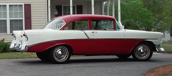 1956 Chevrolet 210 Post Coupe - TuTone, Numbers Matching, Clean !
