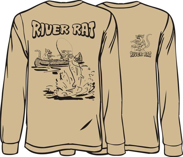 River Rat Long Sleeve T-shirt ( 9 Different Colors )