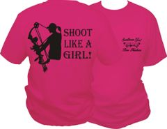 Shoot Like A Girl Short Sleeve T-shirt ( 10 Different Colors )