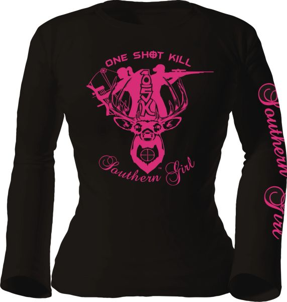 Southern Girl One Shot Kill Long Sleeve T-shirt (9 Different Colors)