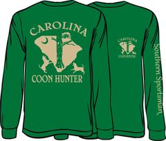 Carolina Coon Hunter Long Sleeve T-Shirt ( 7 Different Colors )