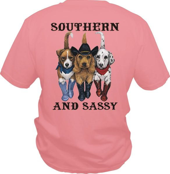 Southern and Sassy Dog in Boots ( Short Sleeve, Long Sleeve & Hoodie )