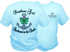 Southern Girl Anchored In The South - Sky Blue Short Sleeve T - Southern and Sassy COLLECTION