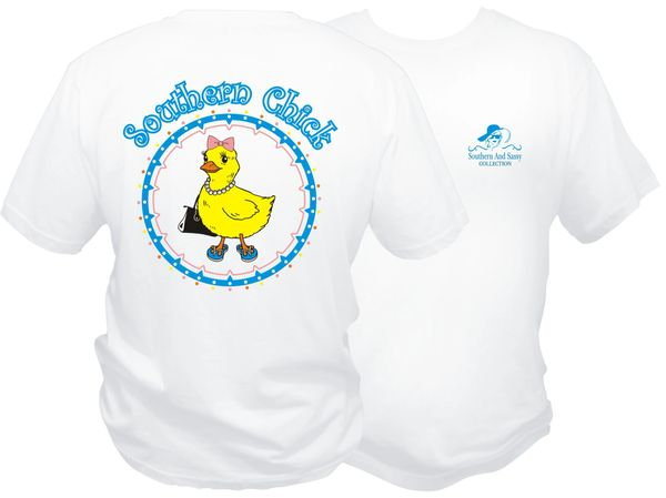 Southern Chick - White Short Sleeve T Shirt - Southern and Sassy Collection