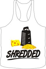 Shredded White Stringer Tank Tops - Fitness / Active / Lifestyle Gear / Wear / Apparel
