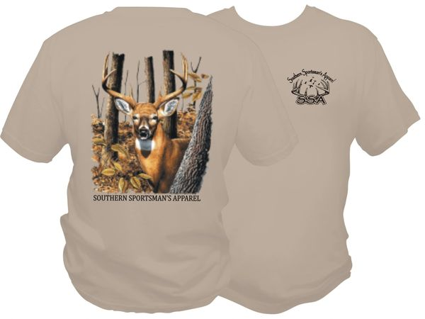 Woodlands Buck Dri Fit Sand Short Sleeve T Shirt