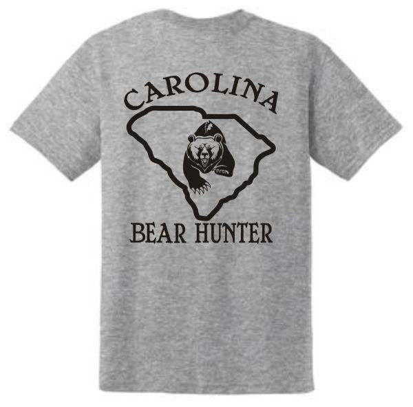 Carolina Bear Hunter Short Sleeve T Shirts - Vinyl (4 Colors Available)