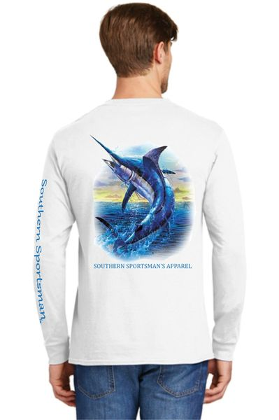 Deep Sea Sword Fish Salt Water Angler White Short And Long Sleeve Shirt