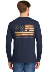 American Flag Buck Navy & Vintage Navy Short Sleeves, Long sleeves & Hoodies - Southern Sportsman's Apparel