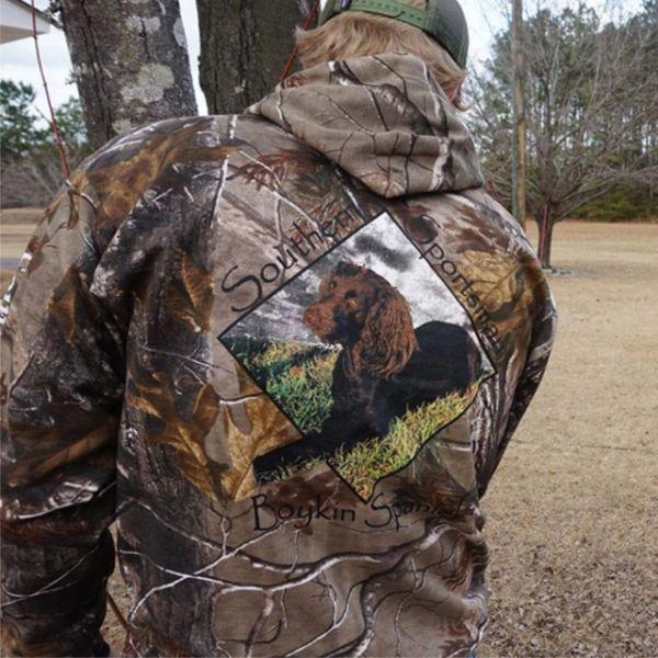 Boykin Spaniel Camouflage Hoodies