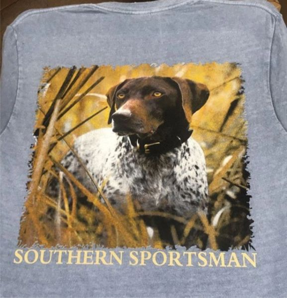 German ShortHaired Pointer Blue Haze Short and Long Sleeve Shirts Custom Pigment Died Southern Sportsman's Apparel