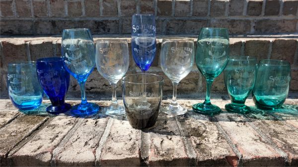 Southern And Sassy Anchor and Bow Design Engraved Wine Glasses / Glasses Stem and Stemless