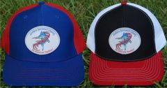 American Flag Sword Fish Patch Hats in 20 Different Colors. Southern Sportsman's Apparel 'An American Tradition'.
