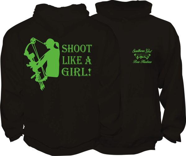 Shoot Like A Girl Hoodie ( 10 Different Colors )