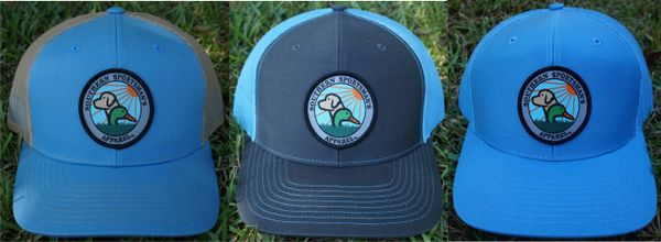 Duck and Dog logo Patch Hats in 26 Different Colors. Southern Sportsman's Apparel