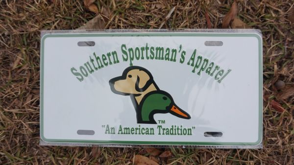 SSA Duck and Dog Logo Metal License Plates