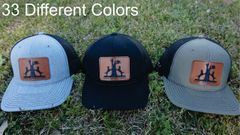 Coon Hunt Leather Patch Hats in 33 Different Colors. Southern Sportsman's Apparel