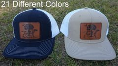Pointer with Palmetto Tree and Moon Leather Patch Hats in 21 Different Colors. Southern Sportsman's Apparel