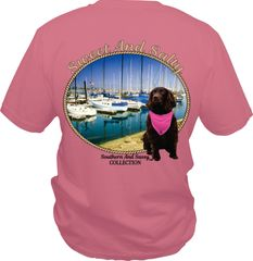 Sweet and Salty ( with Boykin Spaniel ) on pink short sleeve, long sleeves, and hoodies.