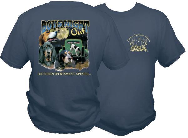Boys Night Out Coon Hunting Design On Midnight Blue Short Sleeve, Long Sleeve, & Hoodies