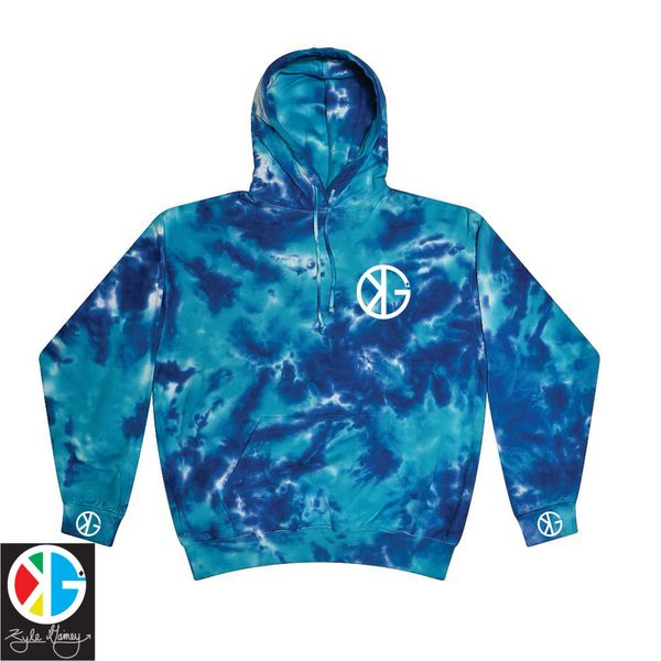 Ocean Blue KG Tie Dye Hoodie by Kyle Gainey Clothing Company