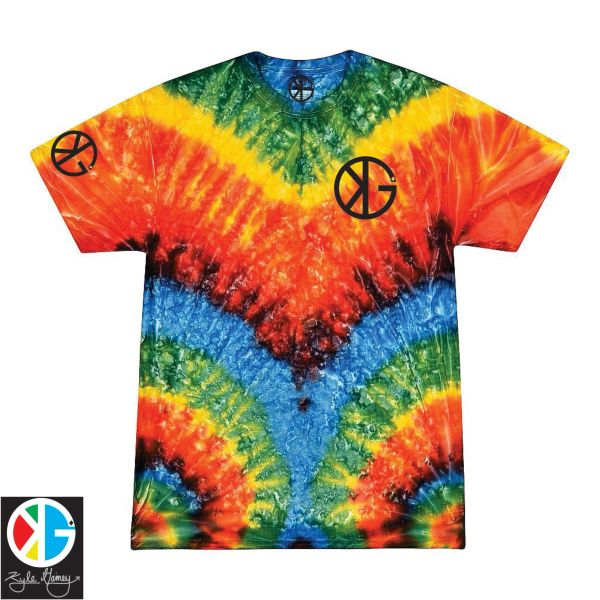 Rainbow Mirror KG Tie Dye Short Sleeve Shirts by Kyle Gainey Clothing Company