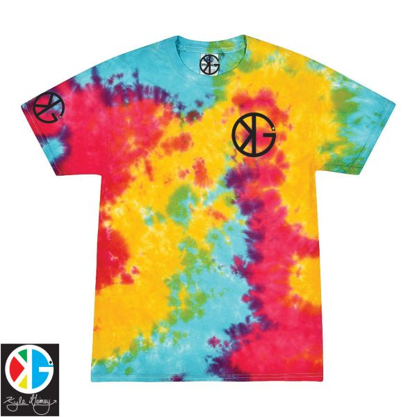 Rainbow Sherbert KG Tie Dye Short Sleeve Shirts by Kyle Gainey Clothing Company