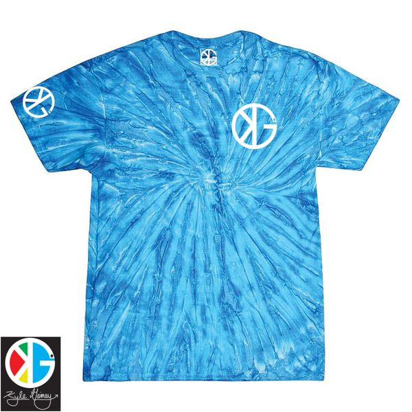 Blueberry Water Splash KG Tie Dye Short Sleeve Shirts by Kyle Gainey Clothing Company