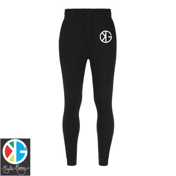 Jet Black Ninja KG Fitted Tapered Sweatpants by Kyle Gainey Clothing Company