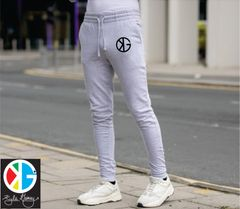 Light Grey Ninja KG Fitted Tapered Jogger Sweatpants by Kyle Gainey Clothing Company