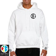 Artic White KG Hoodie by Kyle Gainey Clothing Company