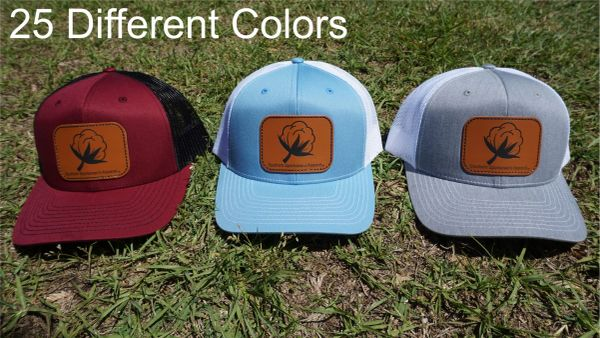 Cotton Leather Patch Hats in 25 Different Colors