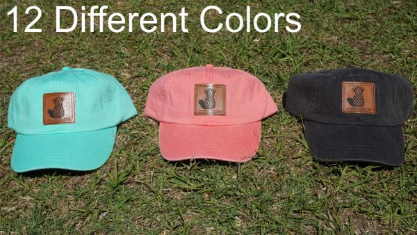 Pineapple Leather Patch Hats In 12 Different Colors Southern & Sassy COLLECTION
