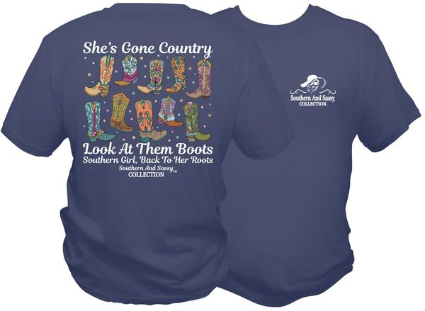 She's Gone Country - Midnight Blue short sleeve, long sleeves, and hoodies.