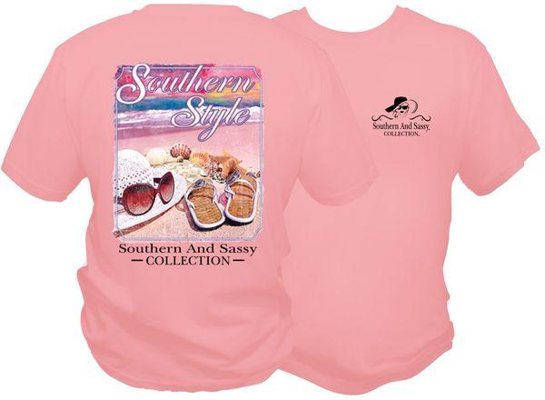 Beach Scene - Light Pink short sleeve & long sleeve t shirts